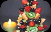 Елка из фруктов и овощей